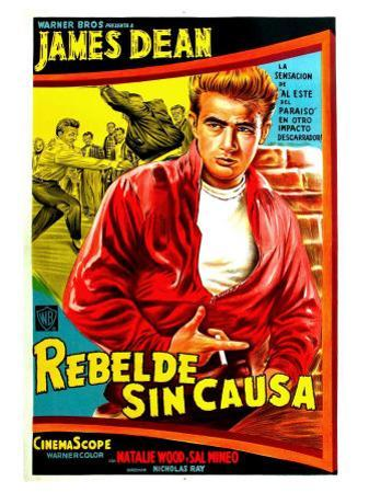Rebel Without a Cause, Argentine Movie Poster, 1955