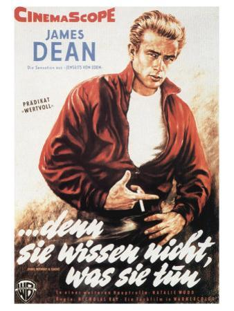 Rebel Without a Cause, German Movie Poster, 1955