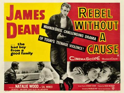 Rebel Without a Cause, James Dean (Center), 1955