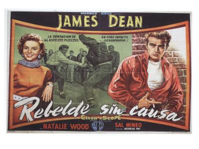 Rebel Without a Cause, Spanish Movie Poster, 1955