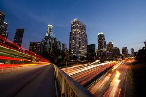 Busy Los Angeles at Night by rebelml