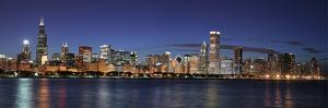 Chicago Skyline at Night by rebelml
