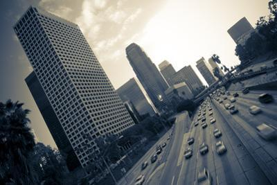 Los Angeles Freeway in Black and White by rebelml