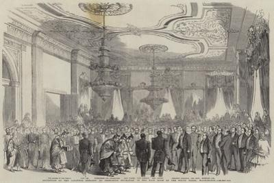 Reception of the Japanese Embassy by President Buchanan in the East Room of the White House
