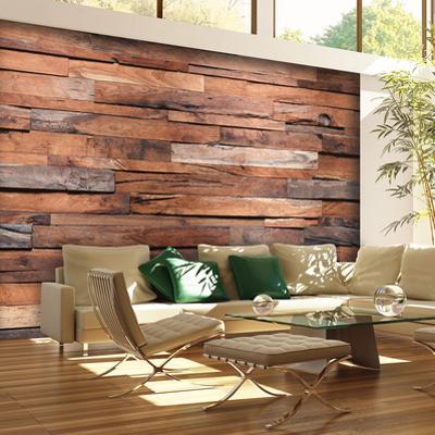 Reclaimed Wood Wall Mural