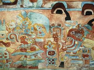 Reconstruction of the Wall Painting of the Temple of the Jaguars at Chichen Itza, Mexico