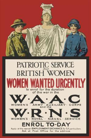 Recruitment Poster for the Waac and Wrns