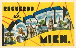 Recuerdo De Morelia, Mich., Mexico
