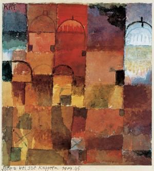 Red and White Domes, Watercolor
