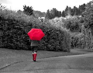 Red Boots and Umbrella