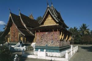 Red Chapel at Golden City Temple (Wat Xieng Thong)