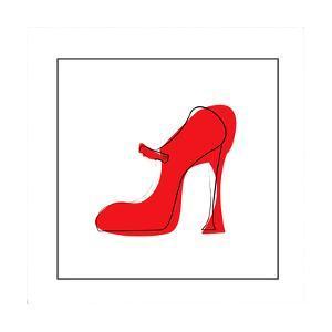 Red High Heeled Shoe