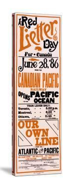 Red Letter Day for Canada, Canadian Pacific Railway Opens Pacific Ocean