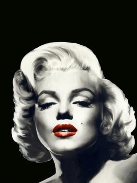 Red Lips Marilyn In Black