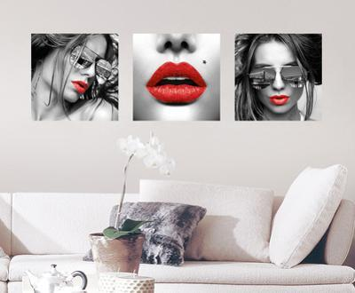 Red Lips Wall Decal