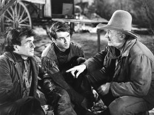 Red River, from Left: Noah Beery Jr., Montgomery Clift, Walter Brennan, 1948