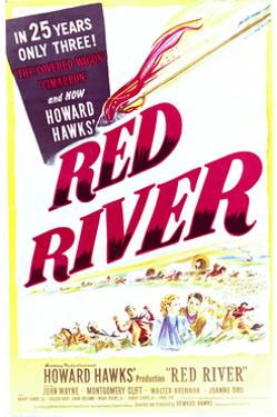 Red River - Movie Poster Reproduction