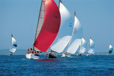 Red Sail Leading The Way