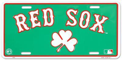 Red Sox Clover License Plate