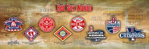 Red Sox Nation World Series Timeline Panoramic Photo