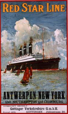 Red Star Line, Antwerpen-New York, circa 1910
