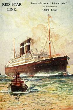 Red Star Line, Triple Screw Pennland, Ex Pittburgh