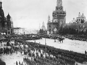 Red Troops Outside the Kremlin