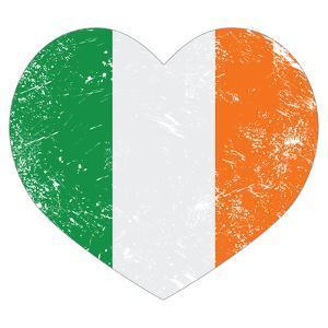 Ireland Heart Retro Flag - St Patricks Day by RedKoala