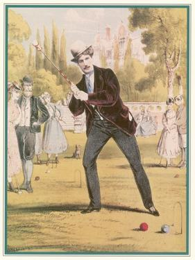 Redoubtable Croquet-Player Ponders a Tricky Shot