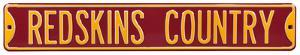 Redskins Country Steel Sign