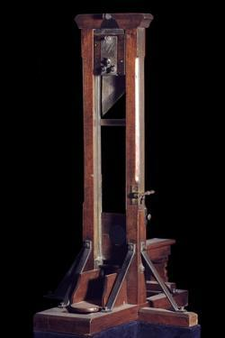 Reduced Model of a Guillotine (Wood and Metal)