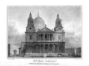 St Paul's Cathedral, London, 1804 by Reeve