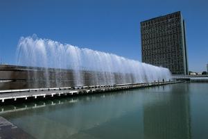 Reflection of a Building in Water, Tashkent, Uzbekistan
