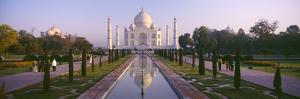 Reflection of a Mausoleum on Water, Taj Mahal, Agra, Uttar Pradesh, India