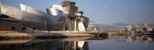 Reflection of a Museum on Water, Guggenheim Musuem, Bilbao, Spain