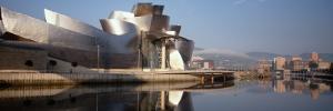 Reflection of a Museum on Water, Guggenheim Musuem, Bilbao, Spain