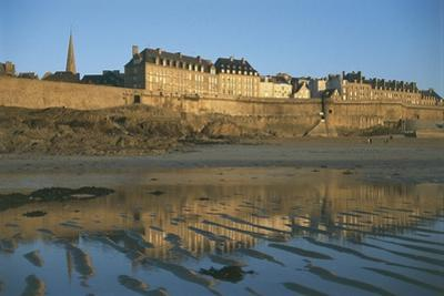 Reflection of a Town in Water, St Malo, France