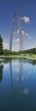 Reflection of an Arch Structure in a River, Gateway Arch, St. Louis, Missouri, USA