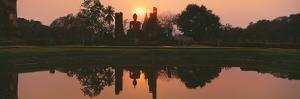 Reflection of Buddha Statue on Water, Sukhothai Historical Park, Sukhothai, Thailand