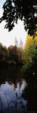 Reflection of Buildings in Water, Central Park, Manhattan, New York City, New York, USA