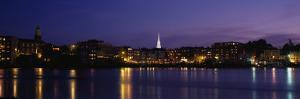 Reflection of Buildings on Water, Portsmouth, New Hampshire, USA