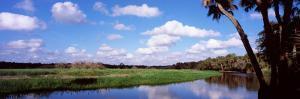 Reflection of Clouds in a River, Myakka River, Myakka River State Park, Sarasota County, Florida