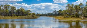 Reflection of clouds on water, Fred C. Babcock-Cecil M. Webb Wildlife Management Area, Punta Gor...