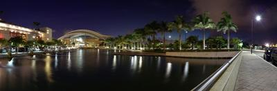 Reflection of lights on water, Puerto Rico Convention Center, Isla Grande, Santurce, San Juan, P...