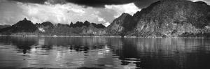 Reflection of Mountain on Water, Chiaw Lan Lake, Kao Sok National Park, Surat Thani Province