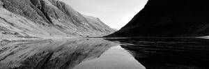 Reflection of Mountains in a Lake, Loch Achtriochtan, Glencoe, Highlands Region, Scotland