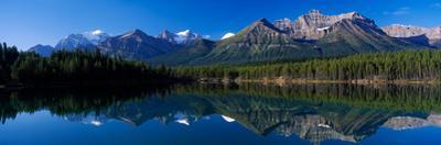 Reflection of Mountains in Herbert Lake, Banff National Park, Alberta, Canada
