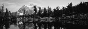 Reflection of Trees and Mountains in a Lake, Mount Shuksan, North Cascades National Park