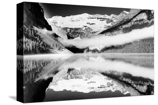 Reflections, Lake Louise, Banff, Alberta--Stretched Canvas Print