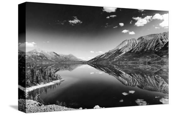 Reflections, Lake Tutshi, British Columbia--Stretched Canvas Print
